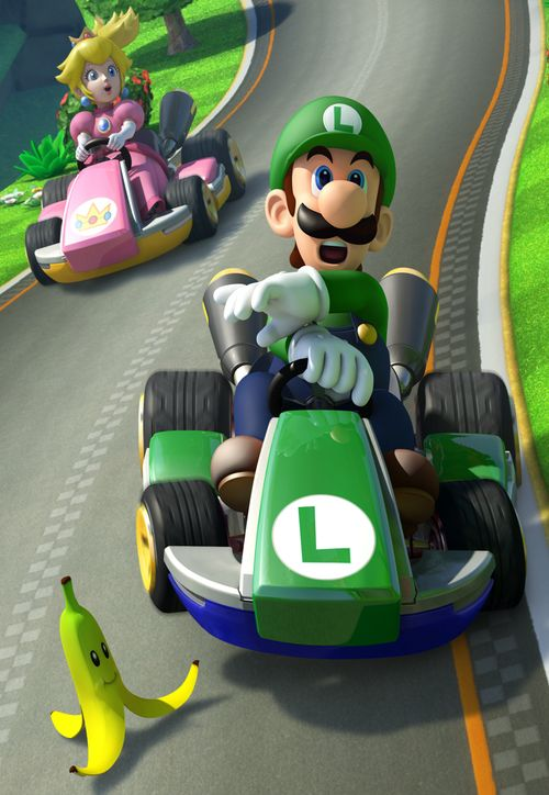 luigi peach mario kart 8 wii u videojuegos pinterest. Black Bedroom Furniture Sets. Home Design Ideas