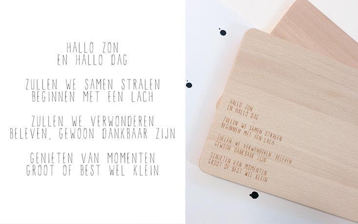 Wat een prachtige teksten gebruikt zij op haar kaarten en producten!