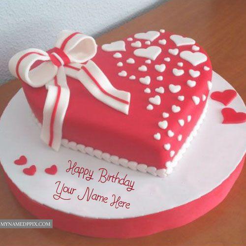print name on beautiful candles decoration birthday cake