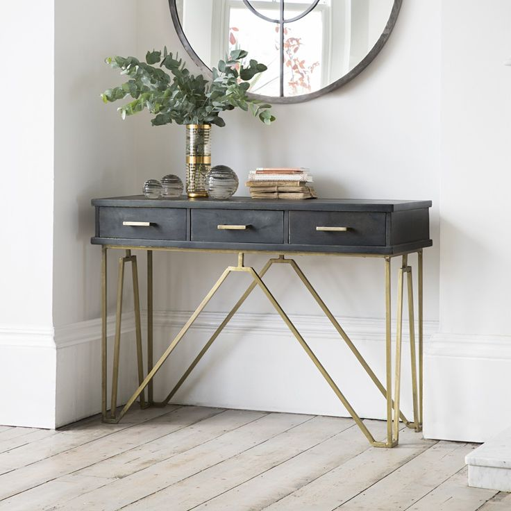 Entry Table Furniture. Entryways are the gates to our homes and can say quite a lot about the owners. Give yours as much tender loving care as you give to any Entrance table and Entrance table Decor Farmhouse Style, Hallways, Entryway, Small, Rustic, Narrow, Glass, Mirror, Home Project
