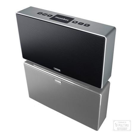 Canton Musicbox S titan  — 24990 руб. —  Canton Musicbox S – это большая версия беспроводной акустической системы от популярного немецкого производителя Hi-Fi-техники для персонального пользования. Больше корпус – насыщеннее и динамичнее басы, что просто необходимо для хорошей вечеринки. Благодаря специальному процессору и оптимизированным параметрам излучателей система обеспечивает очень живой и натуральный звук, который прекрасно подходит для прослушивания музыки. При этом Canton musicbox…