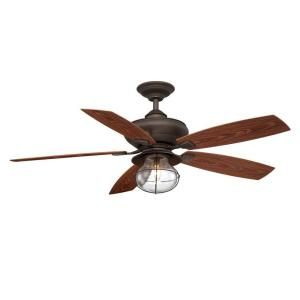 Hampton Bay Sailwind II 52 in. Indoor/Outdoor Oil Rubbed Bronze Ceiling Fan-AG908OD-ORB at The Home Depot $199.00