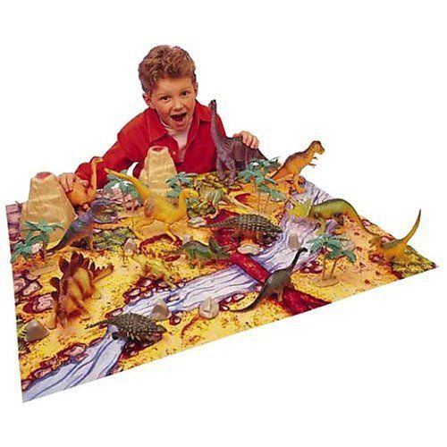 Gifts for Boys Ages 3 - 6 ~ If you have a dinosaur lover in the house, this set from Animal Planet gets rave reviews.  This Big Tub of Dinosaurs is a 40 piece set, complete with playing mat, dinosaurs, trees, and rocks.  The names of the dinosaurs are written on their underside, for us moms that love any sort of educational element.