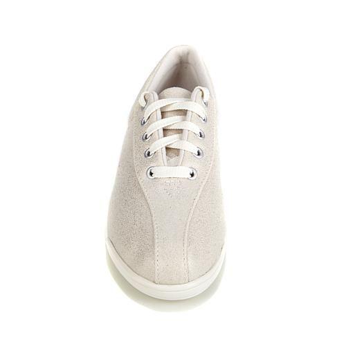 Easy Spirit AP Lace-Up Sneaker - Blue Polka Dot