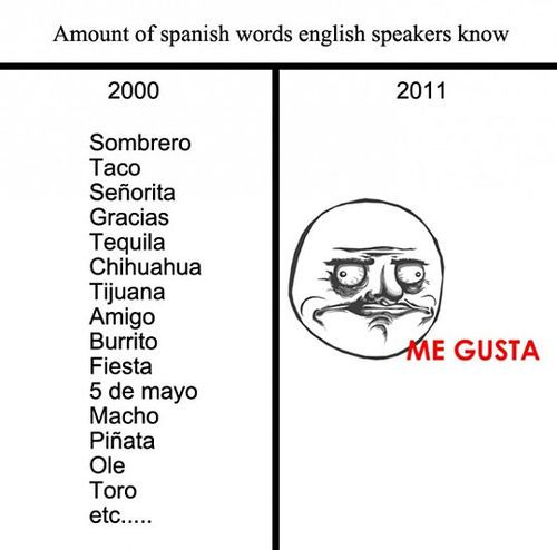 #funny Me Gusta spanish words