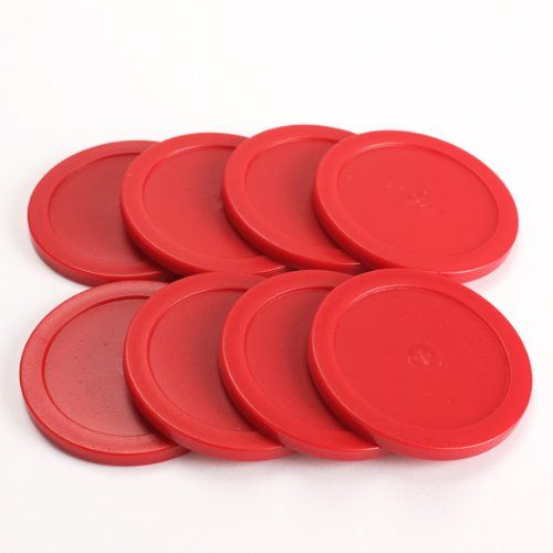 Rojo Air Hockey Conjunto (8 unids. 63mm Air Hockey Puck)