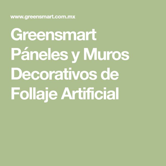 Greensmart Páneles y Muros Decorativos de Follaje Artificial