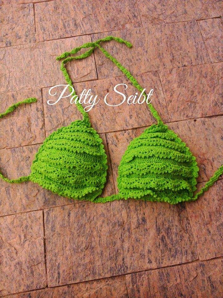 Agulhas Fashion da Patty: Feliz 2015 - biquinis de croche