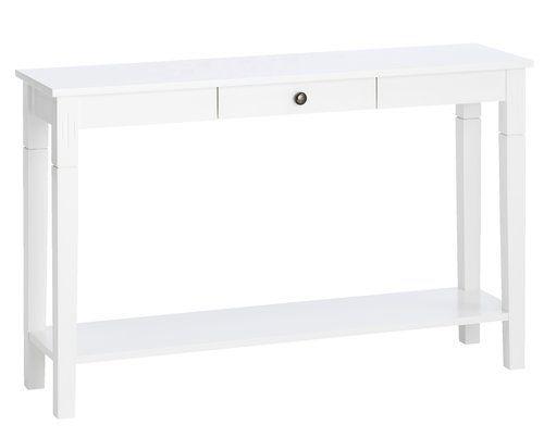 Avlastningsbord AULUM 1 låda vit | JYSK
