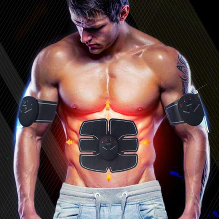 Smart EMS Electric Pulse Treatment Massager Abdominal Muscle Stimulator Fitness Health