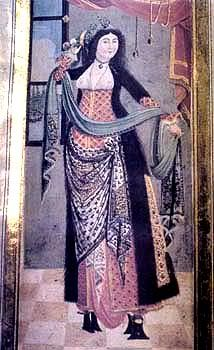 15th century Turkish Women's Clothing (I think this  painting may be a little later that  15th century. Has the look of a later style  painting not a 16th century  one)
