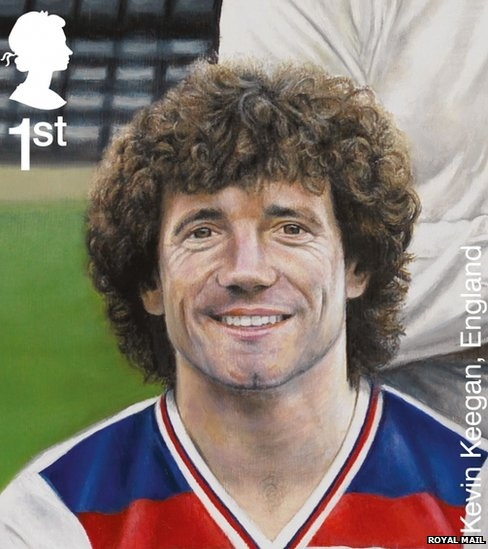 Kevin Keegan. The Royal Mail issues a set of stamps to mark the 150th anniversary of the FA. (source: http://www.bbc.co.uk/news/uk-england-21379857)
