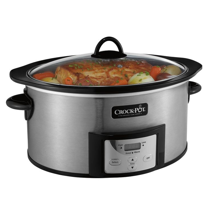Create delicious home-cooked meals using just one programmable Crock-Pot®. Go from browning on the stovetop to simmering in the slow cooker using the same stovetop safe Crock-Pot®.