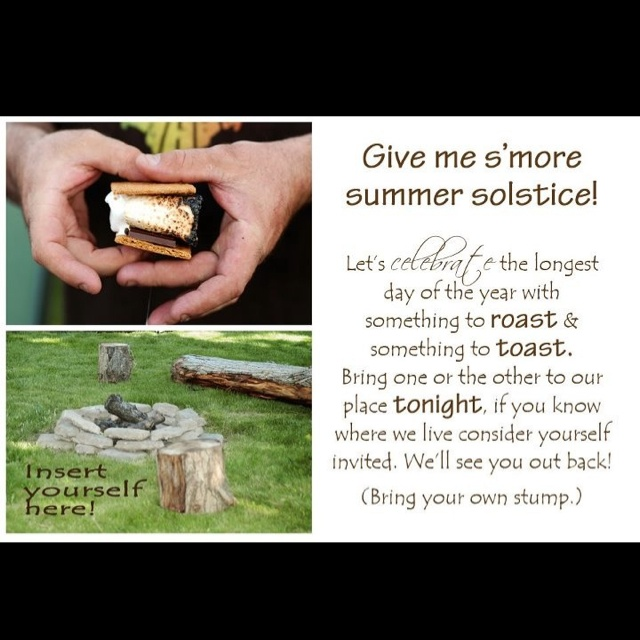 Summer solstice party invite by Jamie Brown
