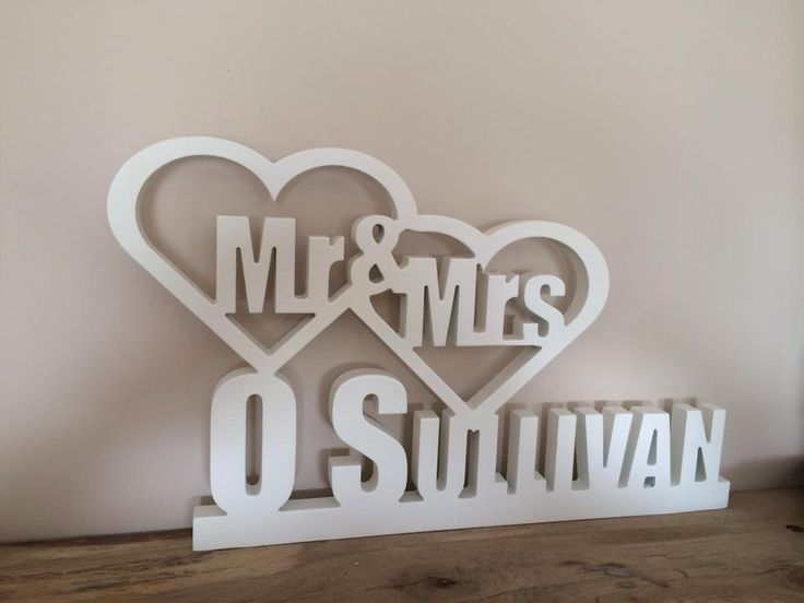 Painted Mr & Mrs