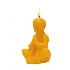 """Molde para hacer velas """"Buda niño""""."""