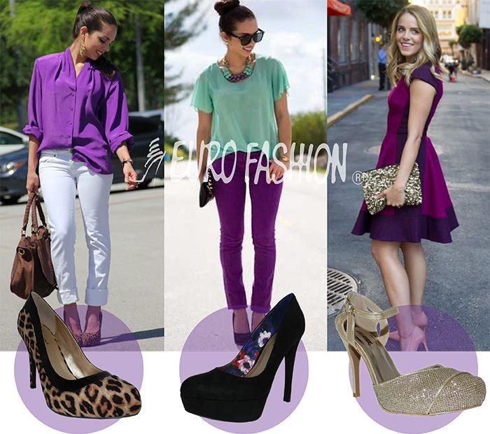 17 mejores ideas sobre como combinar zapatos cafes en - Que colores combinan con el lila ...