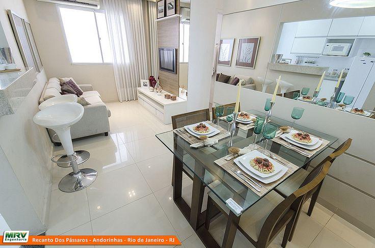 Sala Pequena Decorada Mrv ~  MRV Engenharia  Sala de Jantar  Apartamento  Pinterest  Rio de