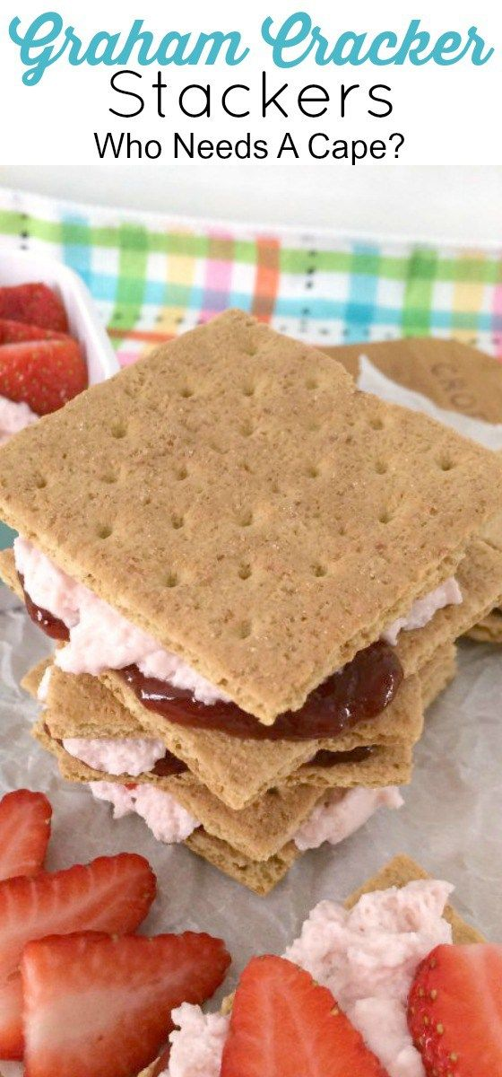Graham Cracker Stackers are an easy dessert or snack item! Kids love them and can help make these tasty treats too! Customize them for your family!