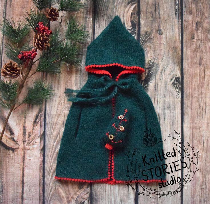 Christmas newborn prop,Christmas Green Cloak,Knit Newborn Wrap,Toy Christmas Tree,Christmas Newborn Outfit,Green stretch wrap,Christmas Elf