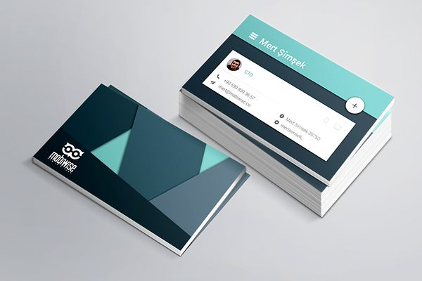 Material Design Business Card on Behance