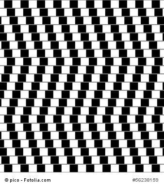 Parallel or not? Optische Täuschung Parallelität