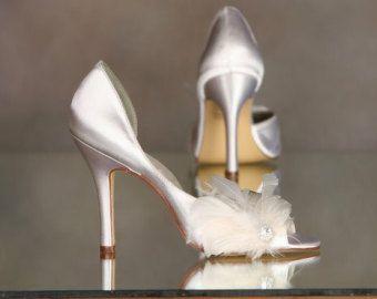 Scarpe - scarpe Avorio - Ivory piuma scarpe - piuma di struzzo - Tingibili scarpe scegliere tra oltre 100 colori - Custom fatto scarpe Parisxox