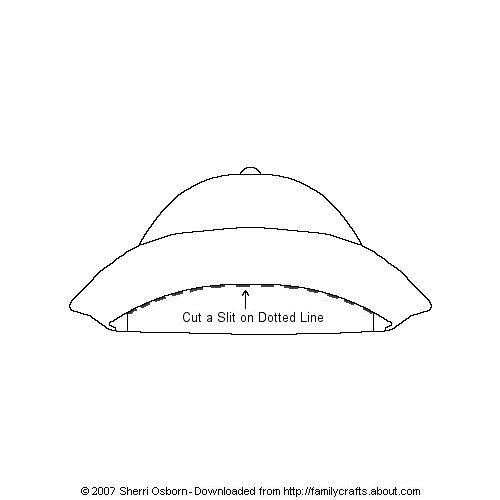 Print out and color or decorate this rain hat for your paper doll.