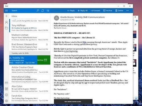 Siapkan aplikasi Mail baru