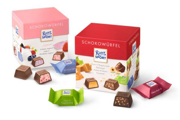 2004 - Schokolade im kleinsten Quadrat - die RITTER SPORT Schokowürfel kommen auf den Markt