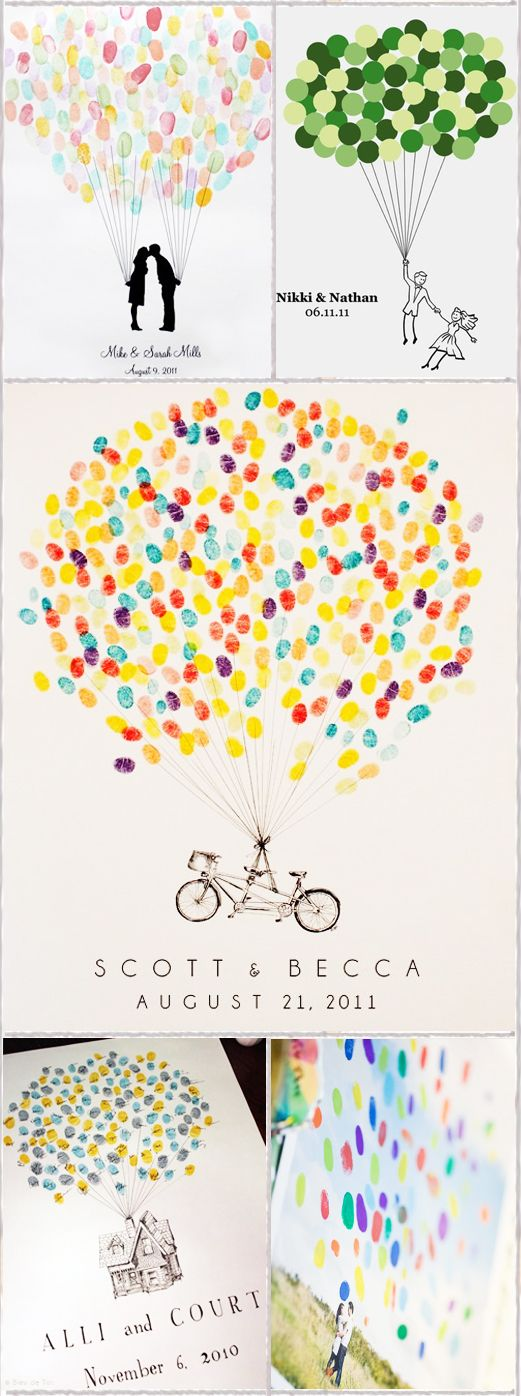 thumbprint guest book, bicycle or tree or both