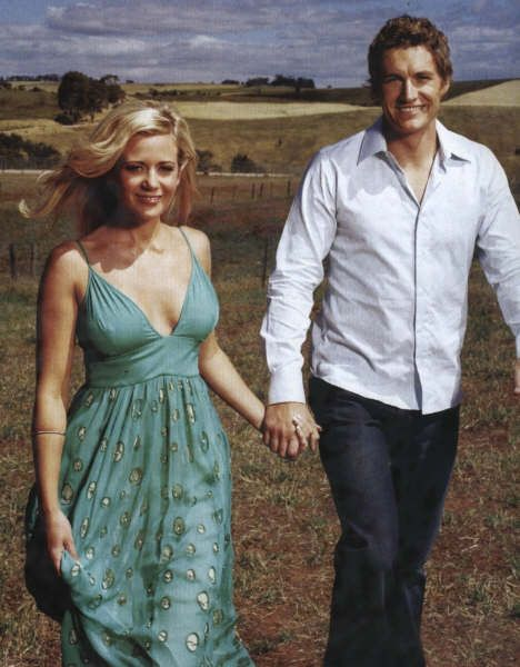 Rachel Carpani (?)  Brett Tucker (Dave). McLeods Daughters. Great tv, show. photo