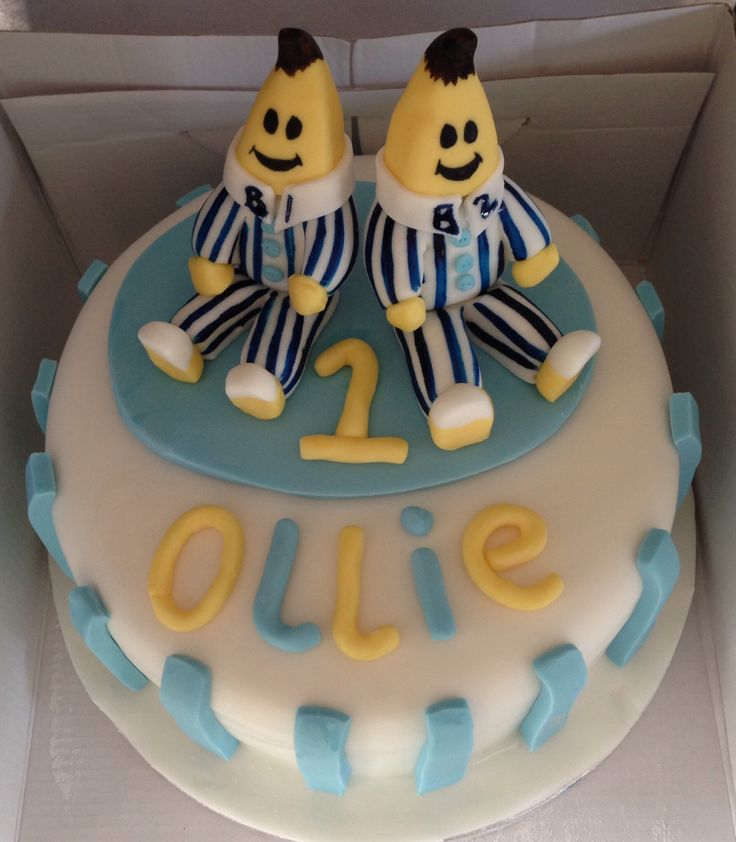 122 best images about bananas in pyjamas cakes and other - Banana cake decoration ...
