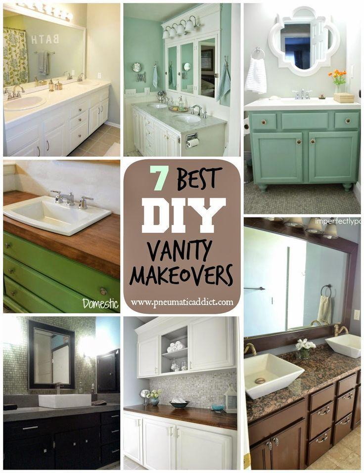 7 Best Diybathroomvanitymakeovers Diyprojects Diyideas Diyinspiration Diycrafts Bathroom Vanity Makeover Diy Bathroom Vanity Diy Bathroom Vanity Makeover