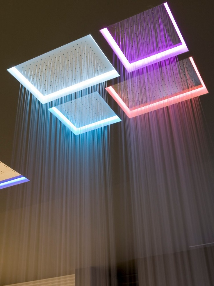 Built-in overhead #shower with chromotherapy METEO XL by Antonio Lupi Design | #design Nevio Tellatin #wellness