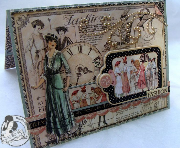 handmade graphic 45 ladies diary cards - Google Search