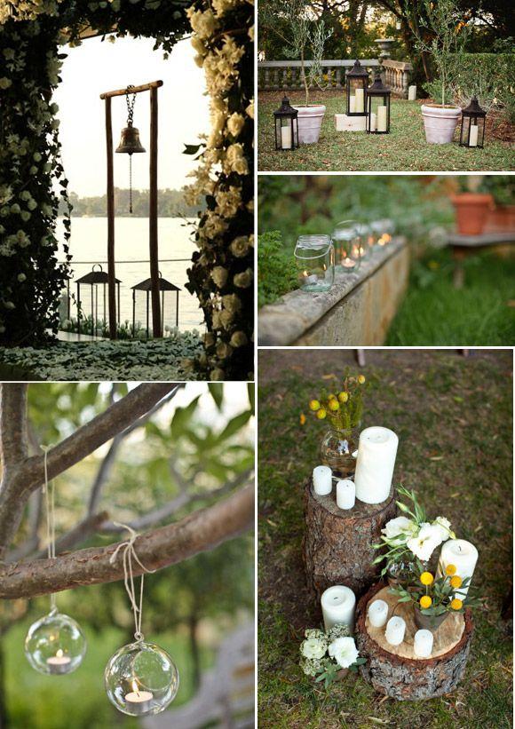Decorar con velas una boda en el jard n accesorios boda - Decorar jarrones con velas ...