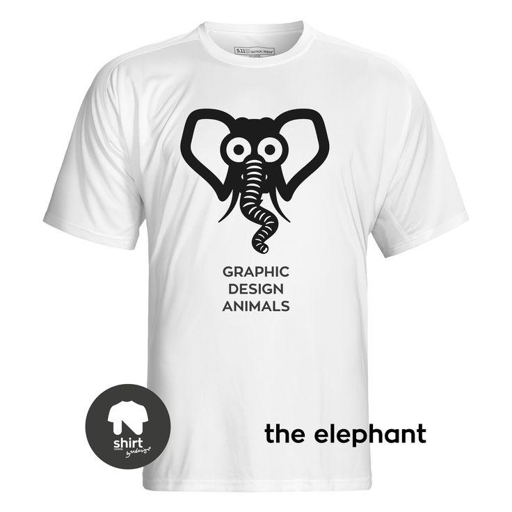 Graphic Design Animals T-Shirt Series, The Elephant #T-shirt #design #graphic_design by George Nikolaidis