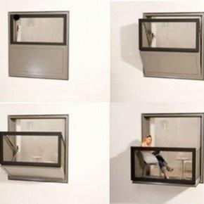 Ventanas de aluminio que se convierten en balcón