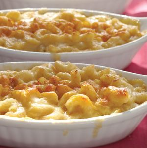 Finally! Three-Cheese Mac and Cheese won't break the calorie bank but it's still rich and sinful tasting. No one will know it's made with skim milk and reduced-fat cheese.