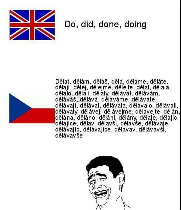 Heavy Czech language......