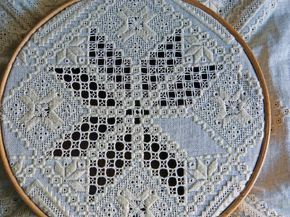 cutwork with machine???   ...   Hardanger embroidery