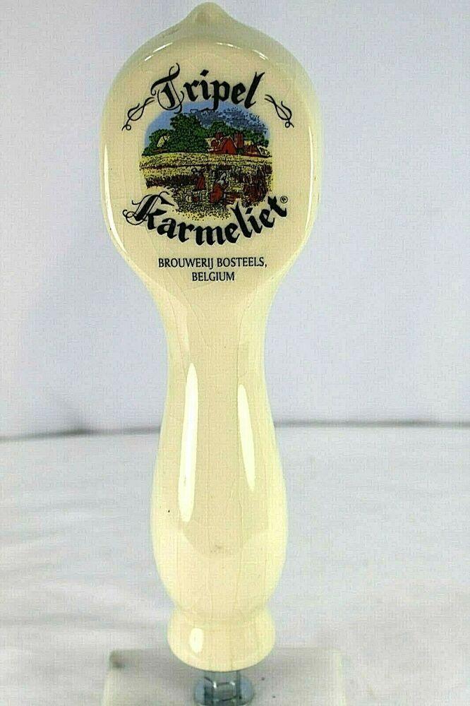 Tripel Karmeliet Belgium White Ceramic Beer Tap Handle Tripelkarmeliet Beer Tap Handles Beer Taps