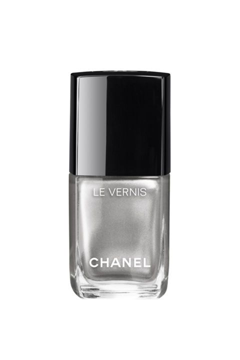 Make your mani practically jewelry with this shimmery silver Chanel Le Vernis polish in Liquid Mirror.