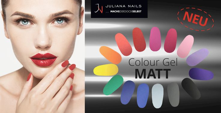 !NEU - COLOUR GEL MATT! In allen Juliana Nails Stores erhältlich. http://www.juliana-nails.com/…/pro…/38557-matt-colour-gel-5g