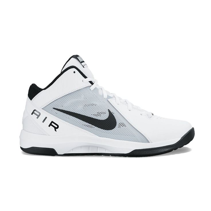 Nike The Air Overplay IX Men's Basketball Shoes, Size: 10.5, White