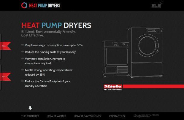 Heat Pump Dryers - Miele Professional - Best website, web design inspiration showcase - www.niceoneilike.com