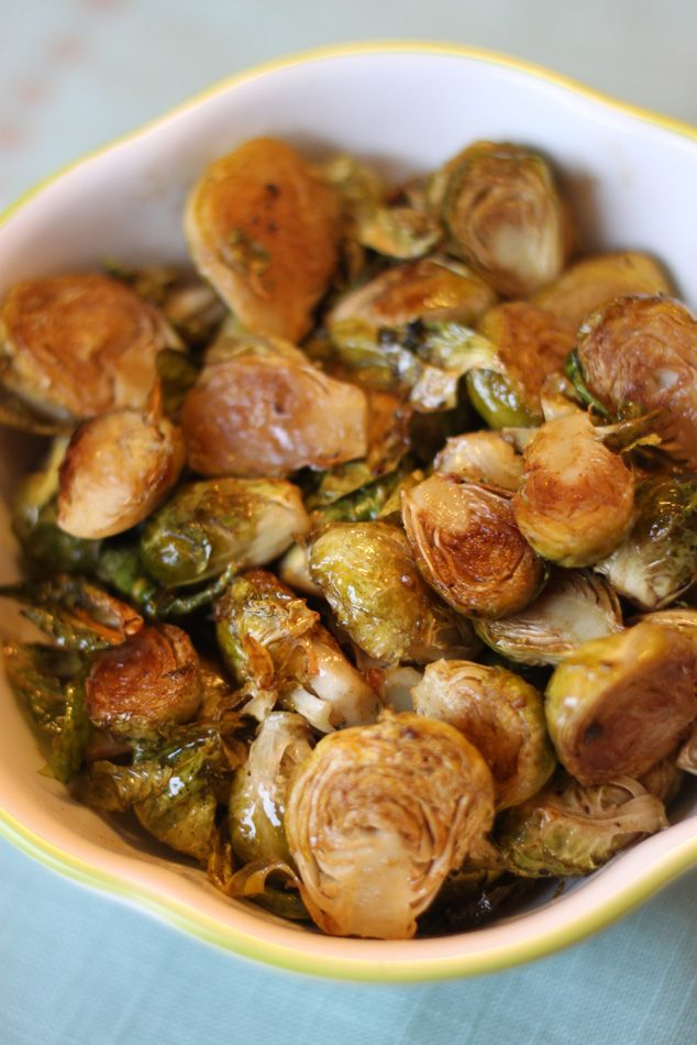Roasted Brussels Sprouts with Balsamic Browned Butter (yum!)