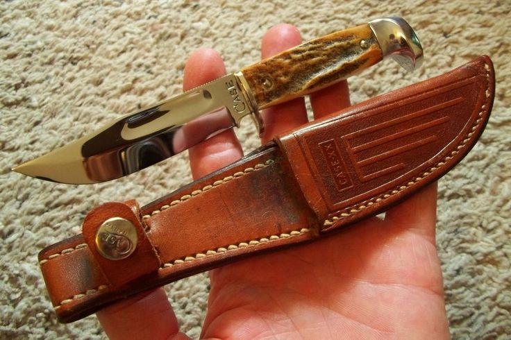 """oLD Vintage 1930s CASE Big C 557SAB XX Stag Fixed Blade Hunting Knife 6 7/8"""" NOS  