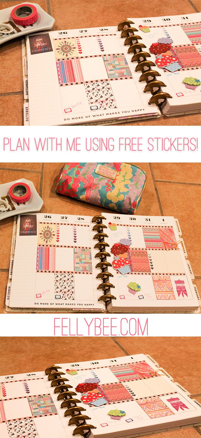 Free planner stickers for the MAMBI Happy Planner - Felly Bee
